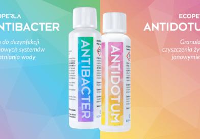 Ecoperla Antibacter i Ecoperla Antidotum - preparaty do urządzeń filtracyjnych
