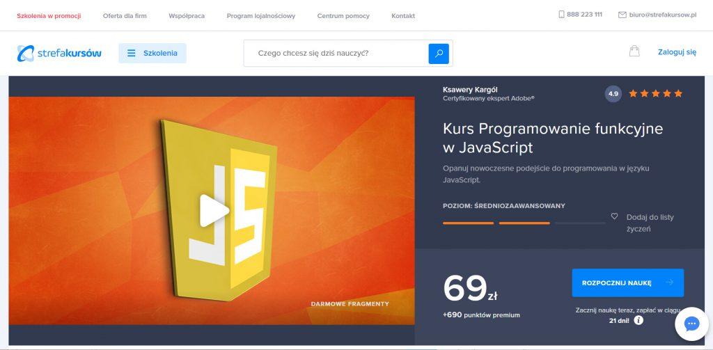 Strefa Kursów - programowanie funkcyjne w JavaScript