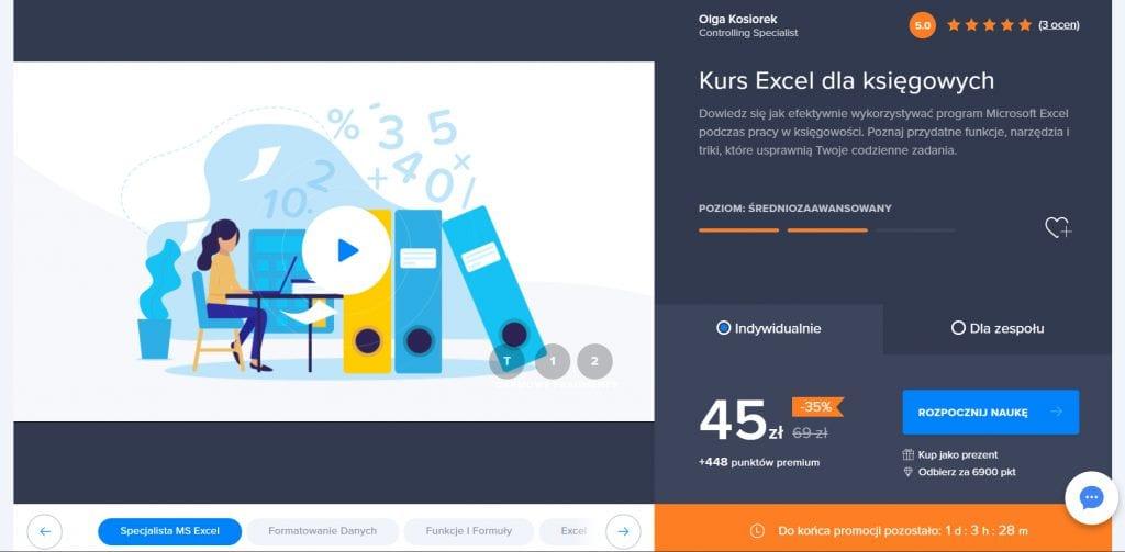 Strefa Kursów - kurs Excel dla księgowych